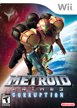 Metroid Prime 3: Corruption - a végleges USA borító